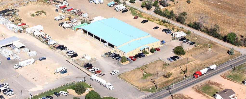 Aerial image of the shop in Commerce City, Colorado